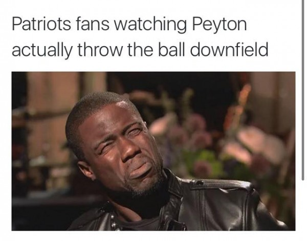 Pats Fans on Manning