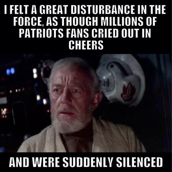Pats disturbance in the force