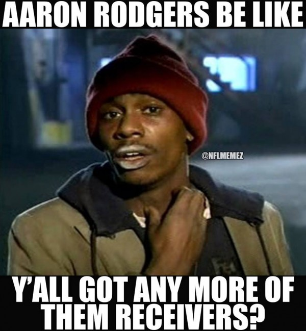 Rodgers needs receivers