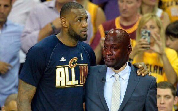 Sad Jordan & LeBron