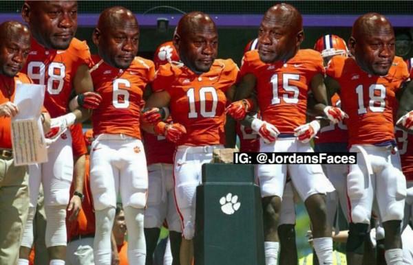 Sad Jordans Clemson