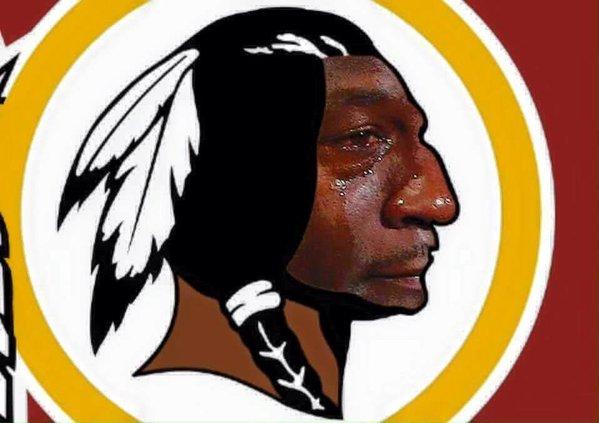 Sad Redskins Logo