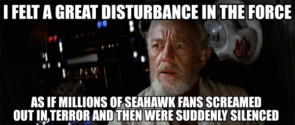 Seahawks Disturbance in the force
