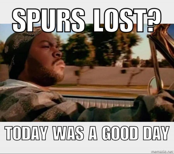 Spurs lost good day