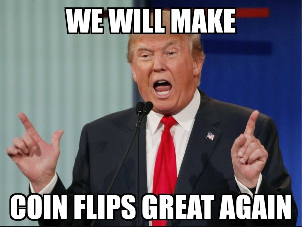 Trump Coin Flips