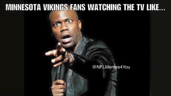 Vikings fans watching