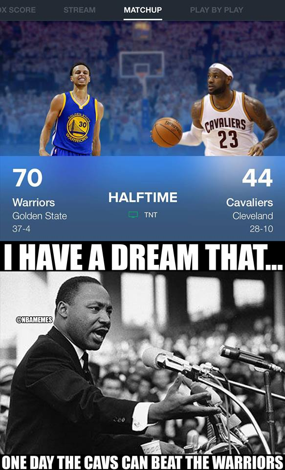 Warrios Cavaliers I have a dream