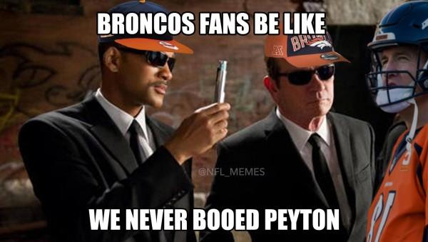 We never booed Peyton
