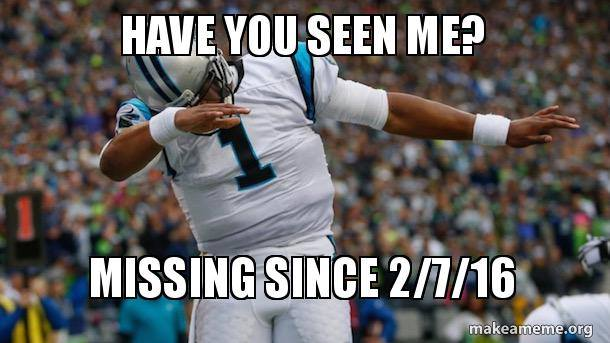 Cam Newton Missing