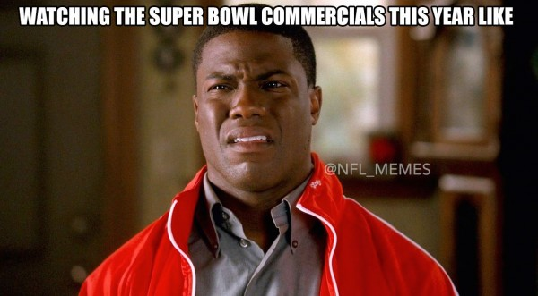 Not liking the Super Bowl commercials