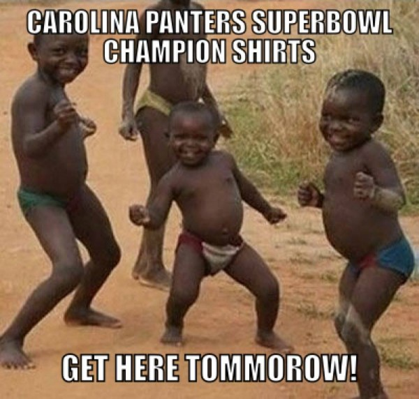 Panthers Super Bowl shirts meme