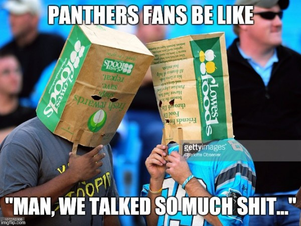 Panthers talked shit
