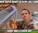 Peyton had a good day