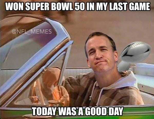Peyton had a good day