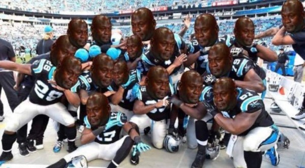 Sad Jordan Panthers Dab