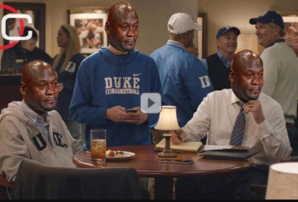 Crying Jordan Duke Fans