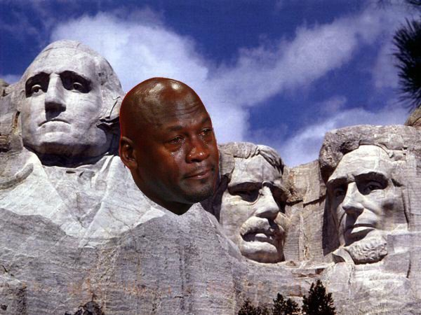 Crying Jordan Rushmore