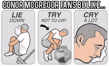 Crying McGregor Fans