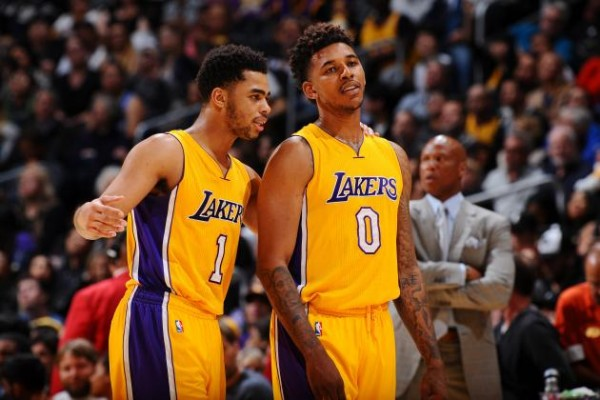 D'Angelo Russell, Nick Young