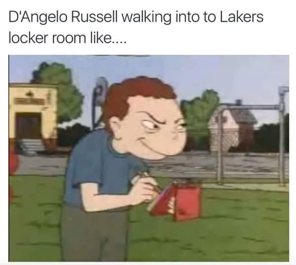 D'Angelo in the Locker Room