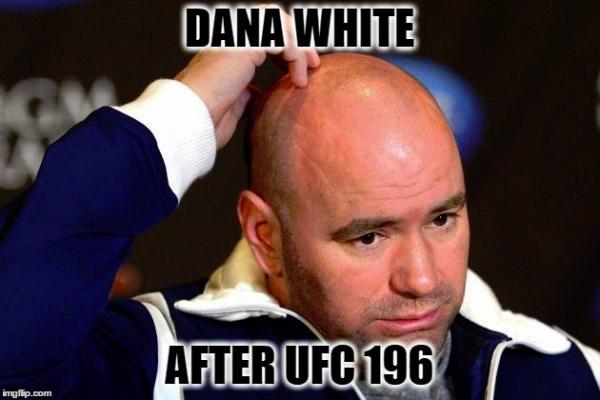 Dana White after UFC 196