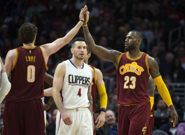 LeBron James, Kevin Love, J.J. Redick