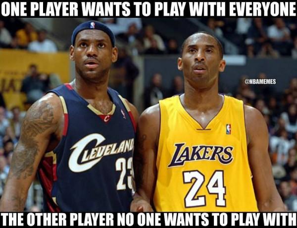 LeBron & Kobe Meme
