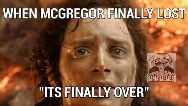 McGregor Finally Lost