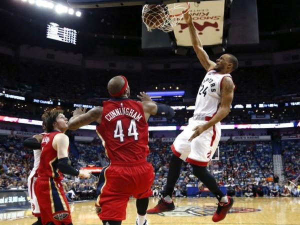 Raptors beat Pelicans