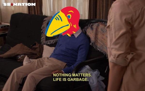 Sad Jayhawk