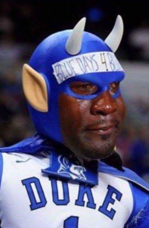 Sad Jordan Blue Devils