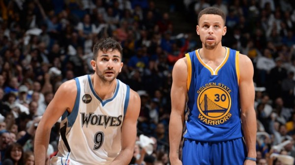 Stephen Curry, Ricky Rubio