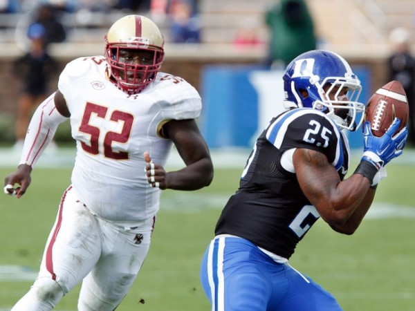 NCAA Football: Boston College at Duke