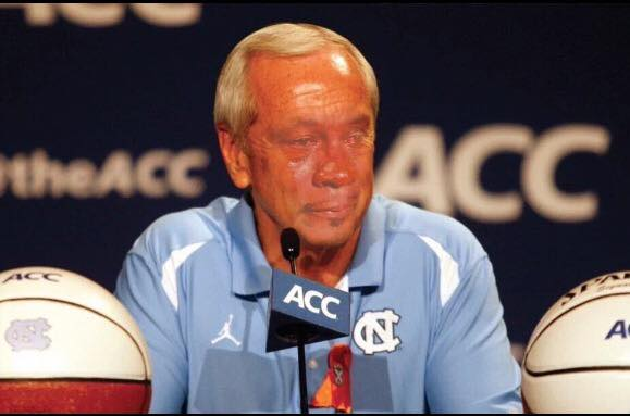 Crying Jordan Roy Williams