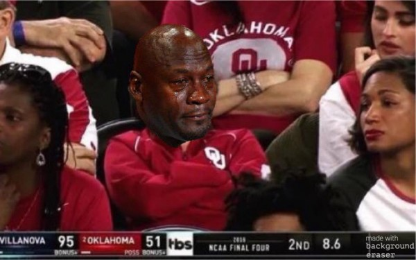 Crying Jordan Sooners Fan