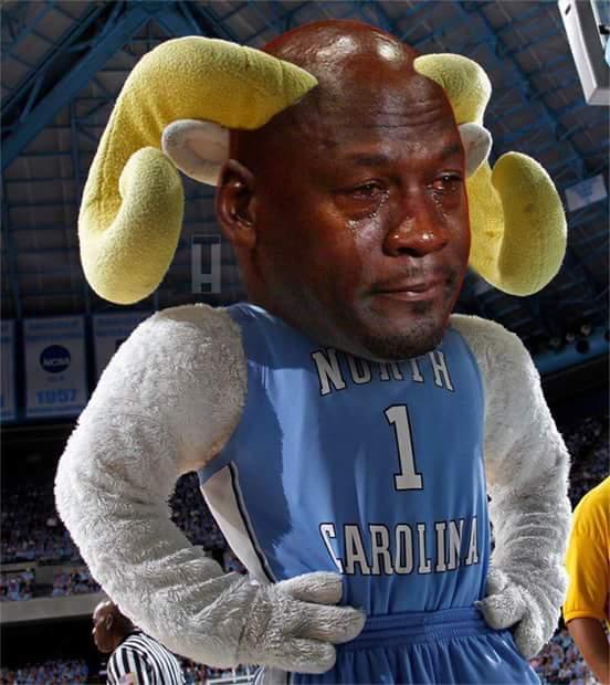 Crying Jordan UNC Ram