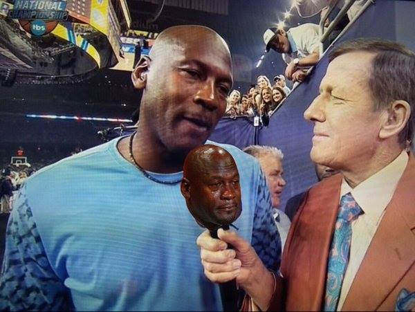 Crying Jordan microphone