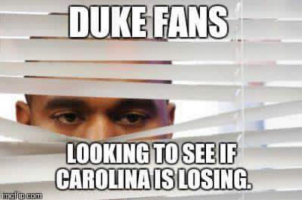 Jealous Duke Fans