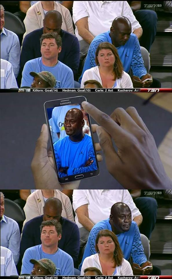 Michael Jordan Crying Jordan meta
