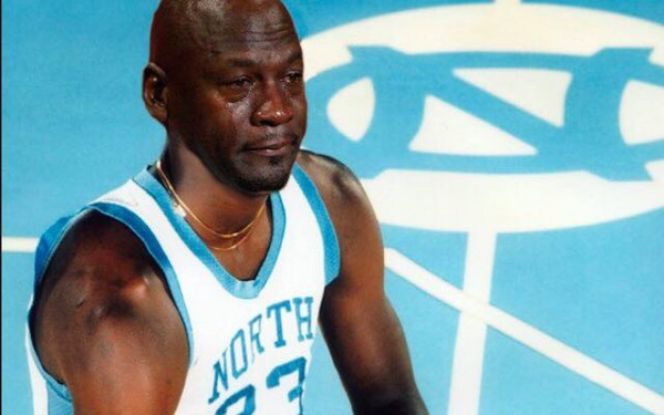 Michael Jordan North Carolina Crying