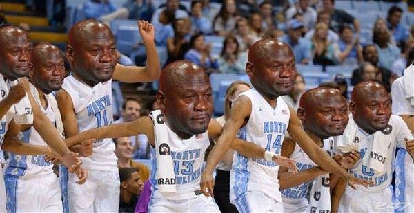 North Carolina Crying Jordans