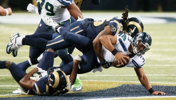 Russell Wilson Sacked