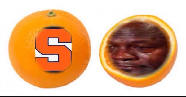 Syraucse Orange Crying Jordan