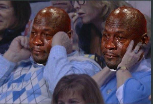 Tar Heels fans Crying Jordan