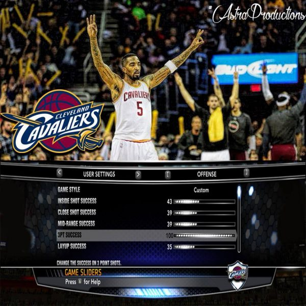 Cavs 2k attributes