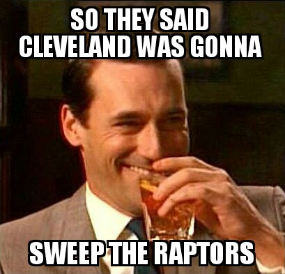 Cleveland don't sweep