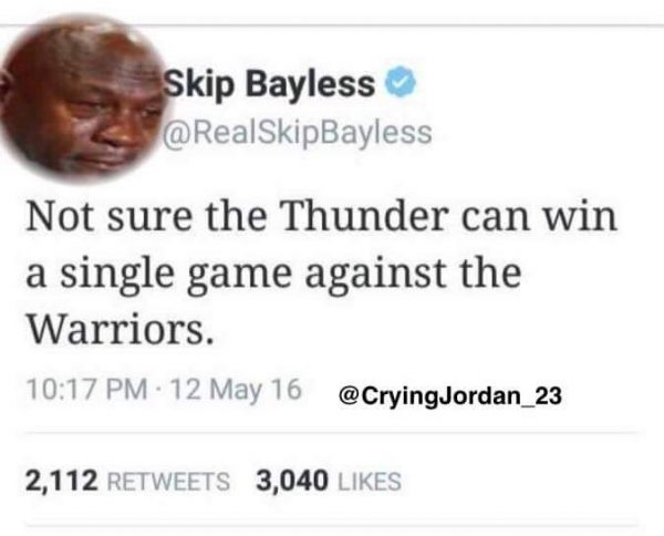 Crying Jordan Bayless Tweet