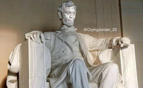 Crying Jordan Lincoln Memorial