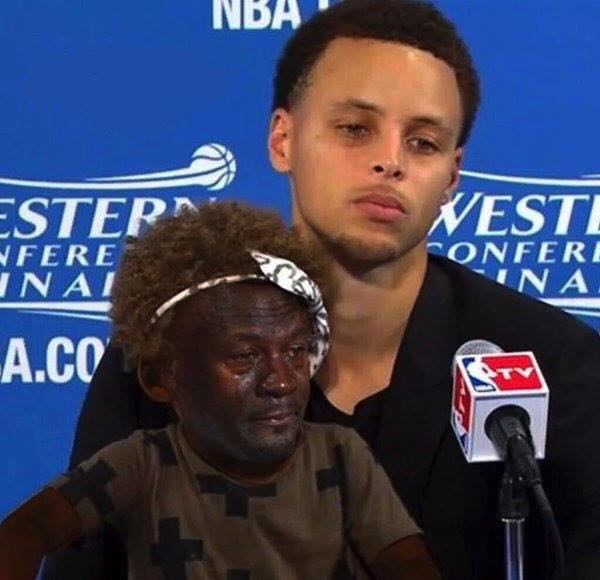 Crying Jordan Riley Curry