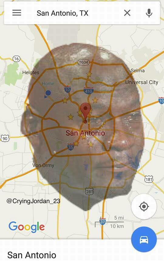 Crying Jordan San Antonio
